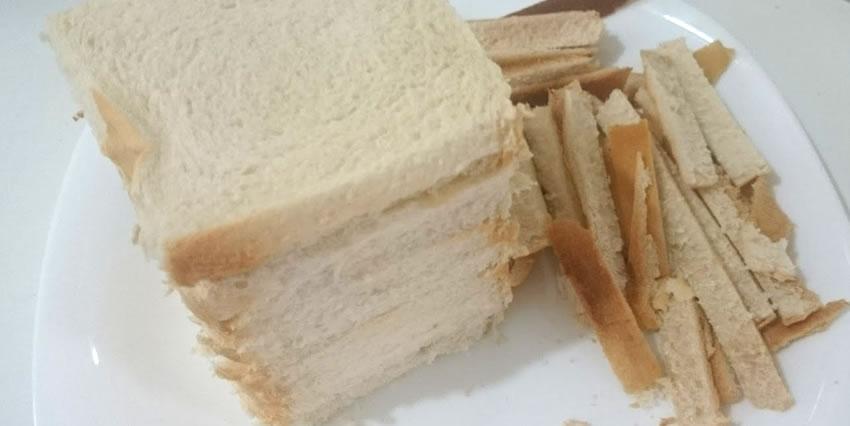 Farinha de rosca grossa com pão de forma